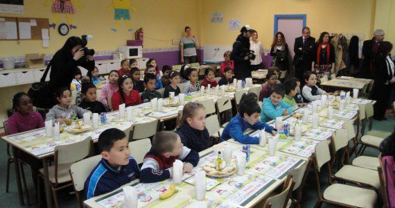 学校での「健康的な朝食」(マドリード州)