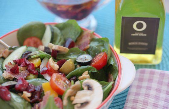 【簡単サラダ】スペイン産オリーブオイルでチェリードレッシングを!