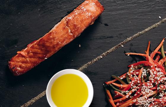 【鮭料理】簡単おいしい!鮭の照り焼きをオリーブオイルで