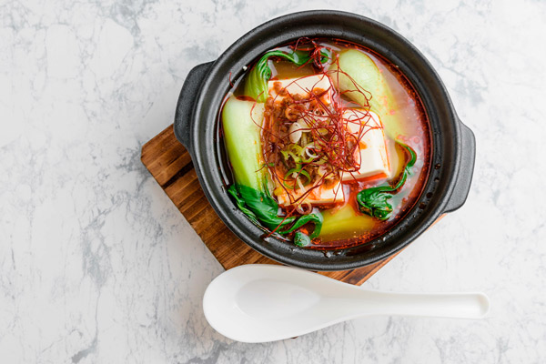 TanTan spicy tofu with EVOO from Spain